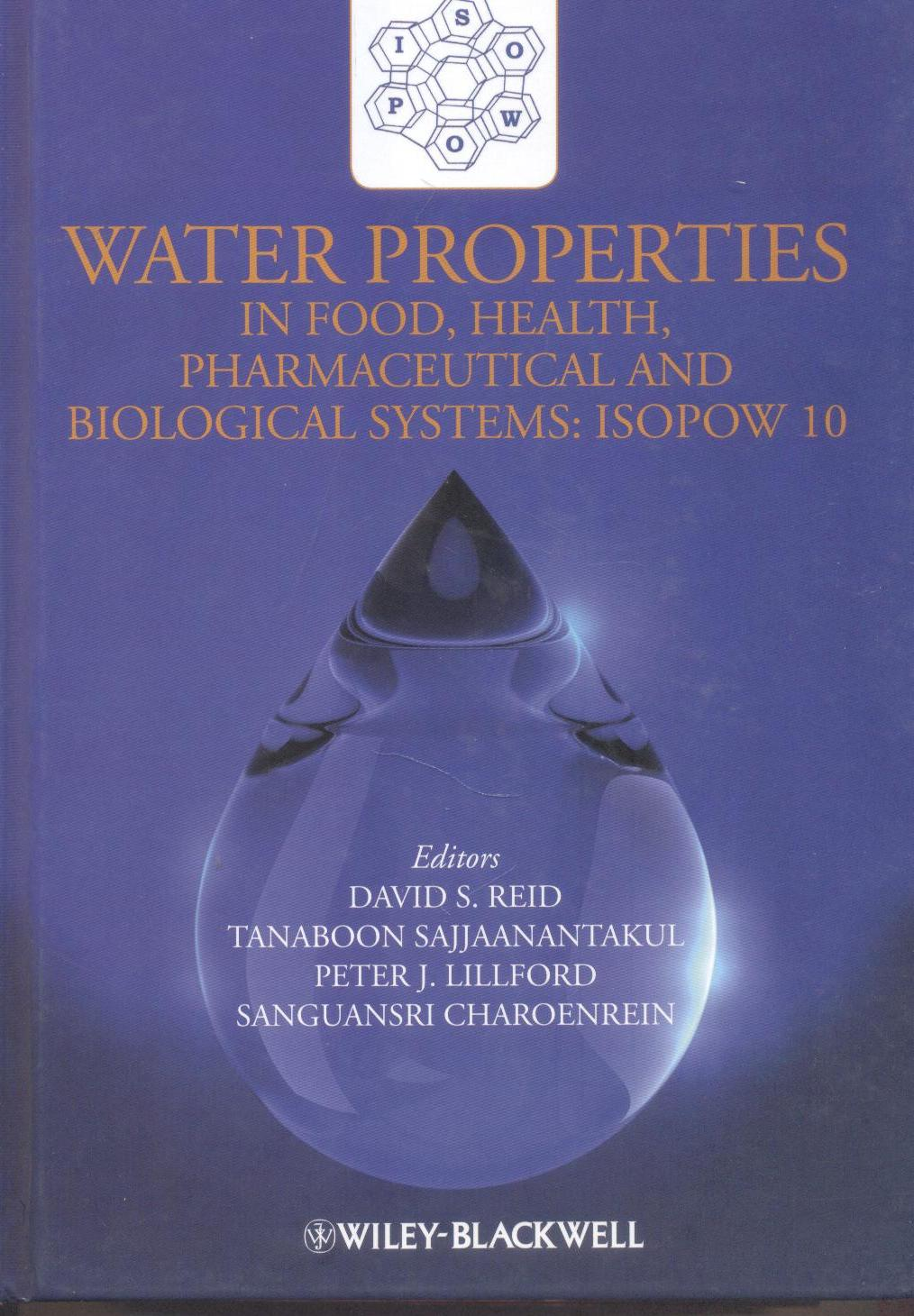 Cover of Water properties in food health, pharmaceutical and biological system